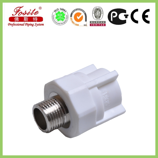High Quality White Hexagon Male PPR Pipe Fitting
