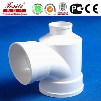 China 2016 good qulity PVC fittings 90 degree TEE for drainage