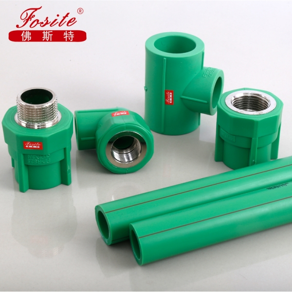 PPR material types of plastic water pipe manufacturer